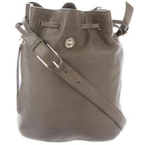 Tory Burch Brody Bucket Bag Leather Drawstring…